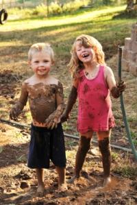 kids getting dirty
